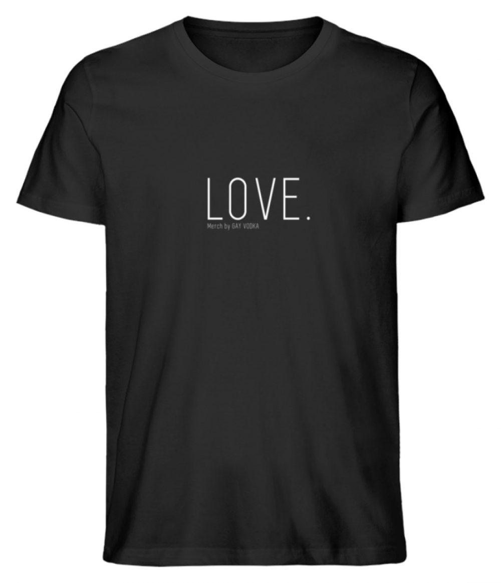 LOVE. - Herren Premium Organic Shirt-16