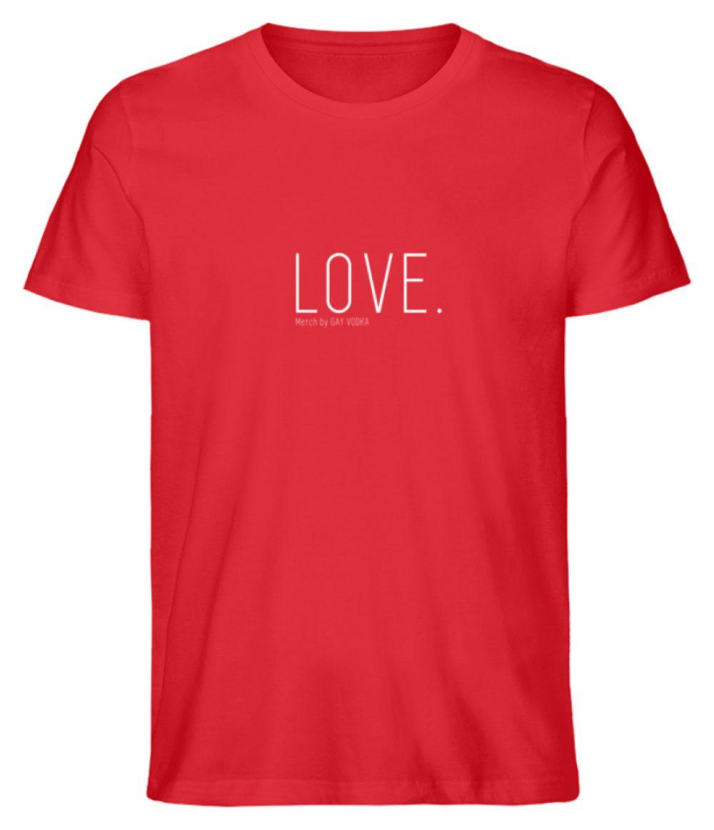 LOVE. - Herren Premium Organic Shirt-6882
