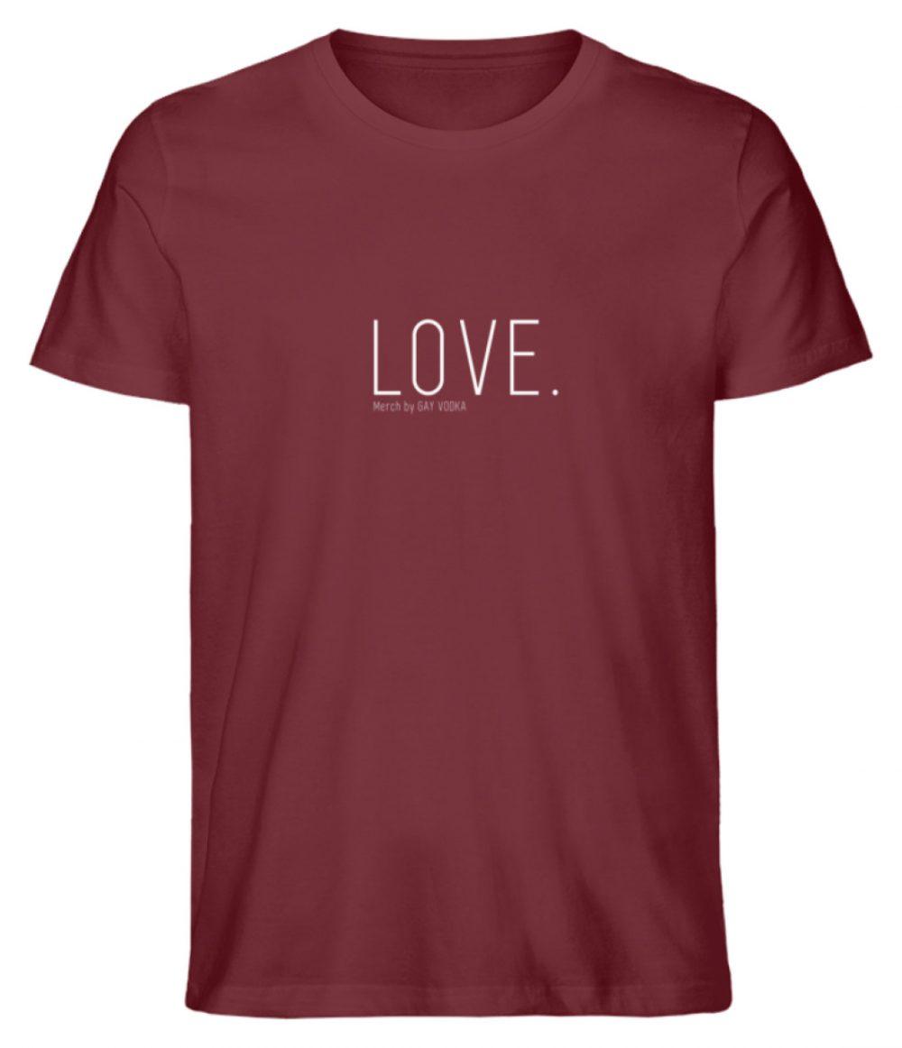 LOVE. - Herren Premium Organic Shirt-6883