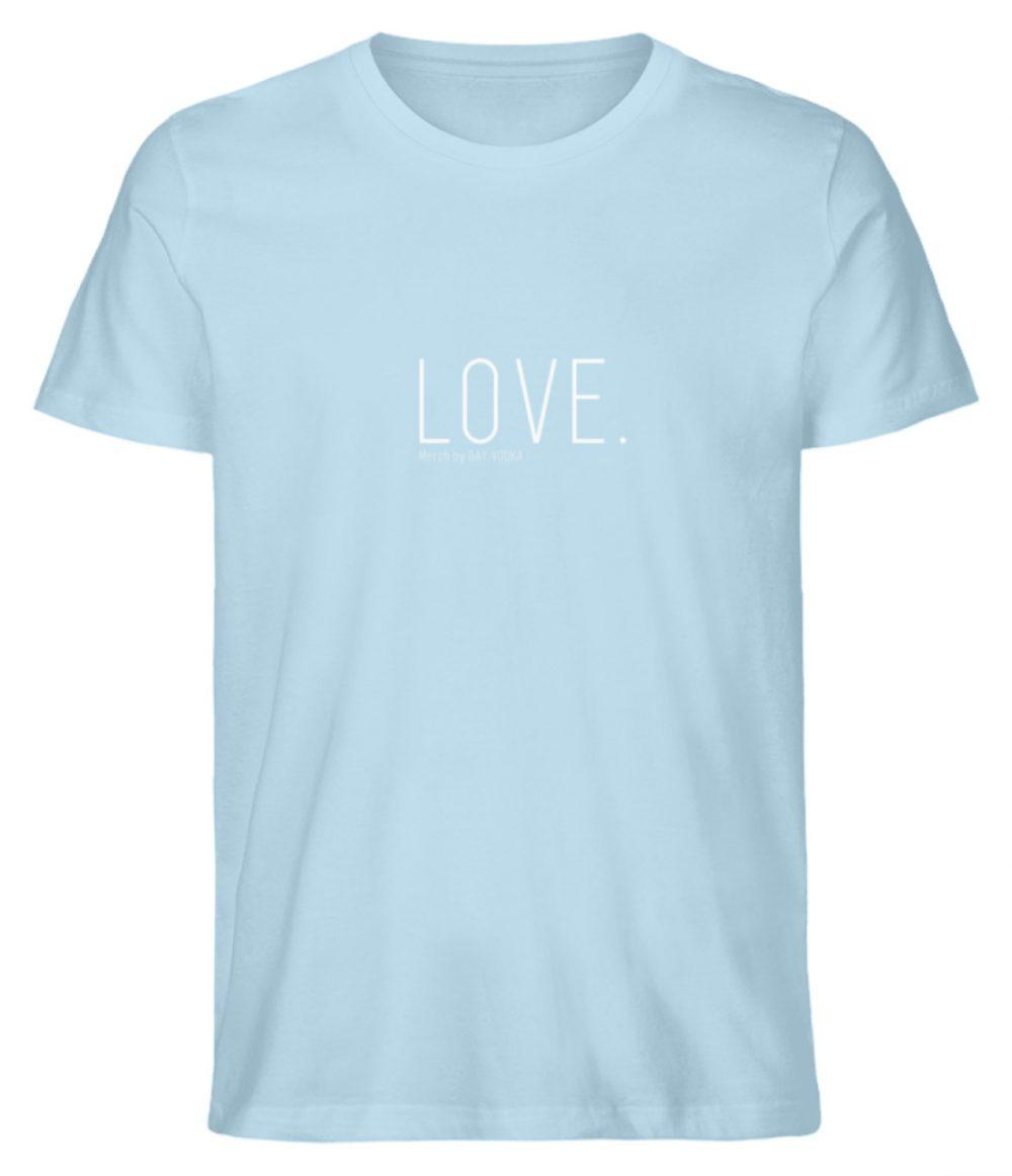 LOVE. - Herren Premium Organic Shirt-6888