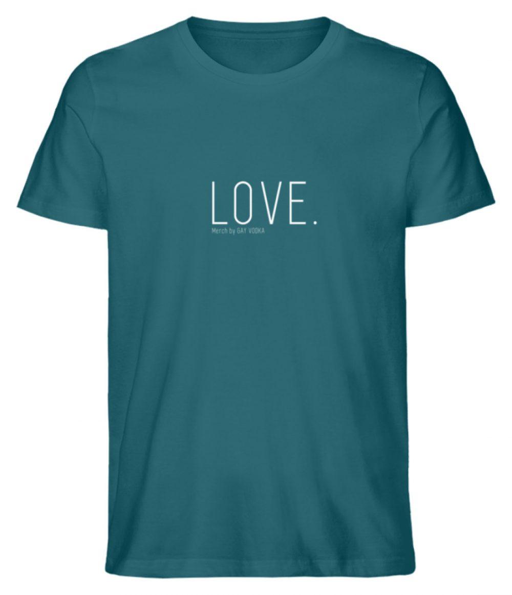 LOVE. - Herren Premium Organic Shirt-6889
