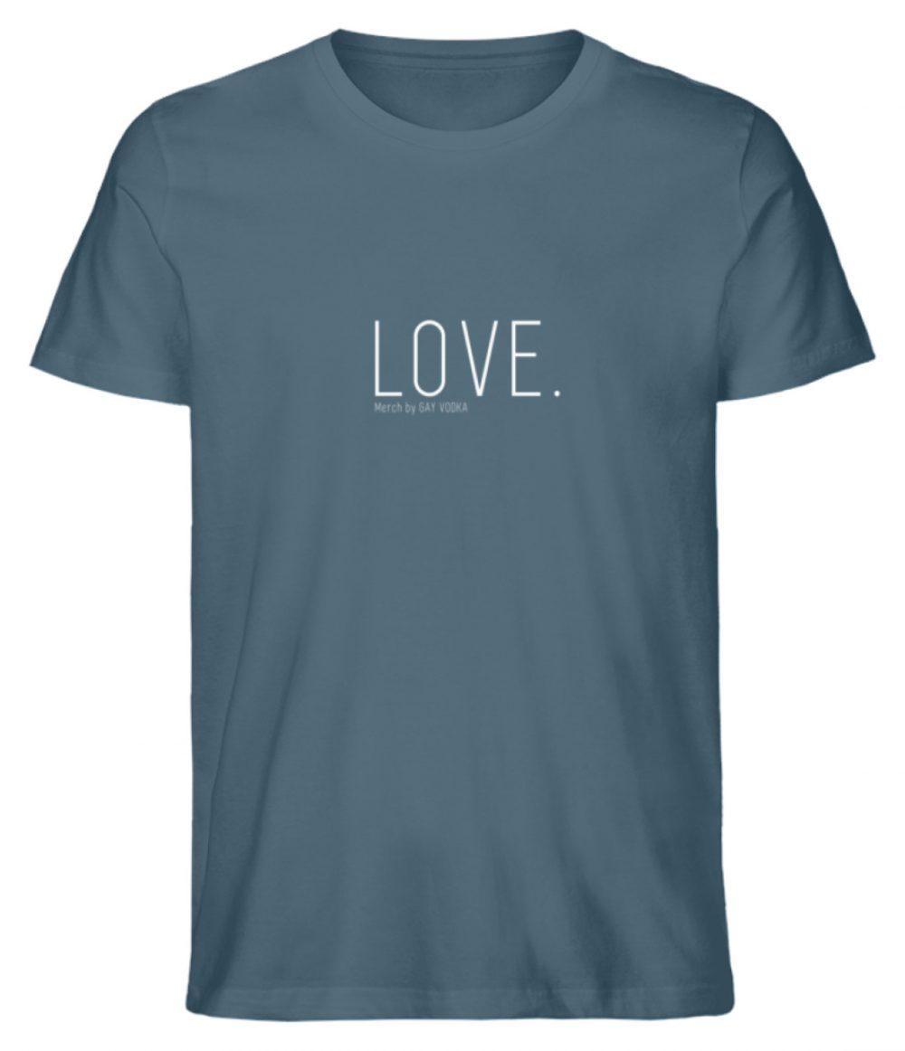 LOVE. - Herren Premium Organic Shirt-6895