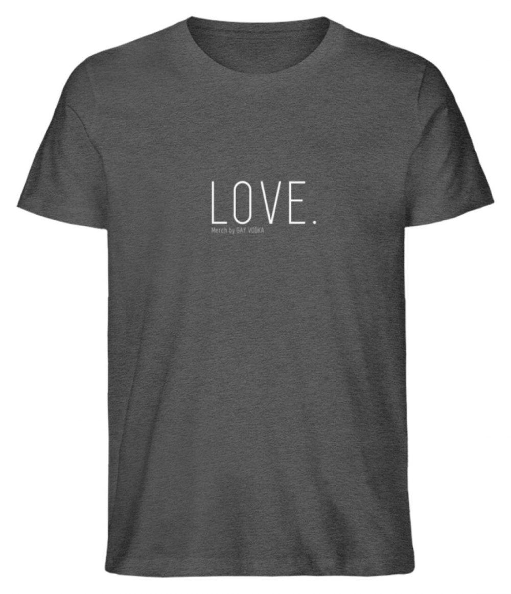 LOVE. - Herren Premium Organic Shirt-6898
