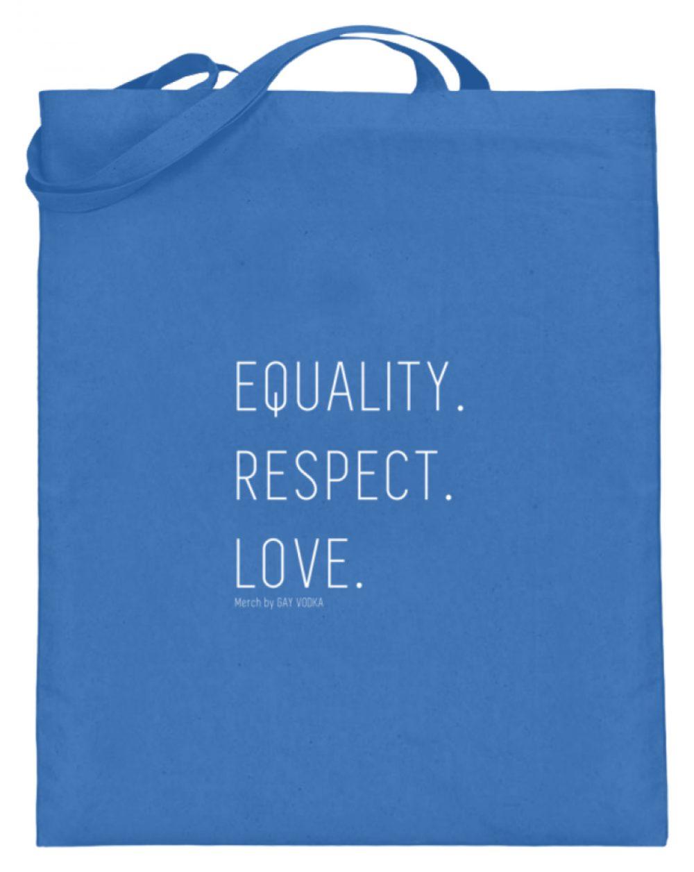 EQUALITY. RESPECT. LOVE. - Jutebeutel (mit langen Henkeln)-5739