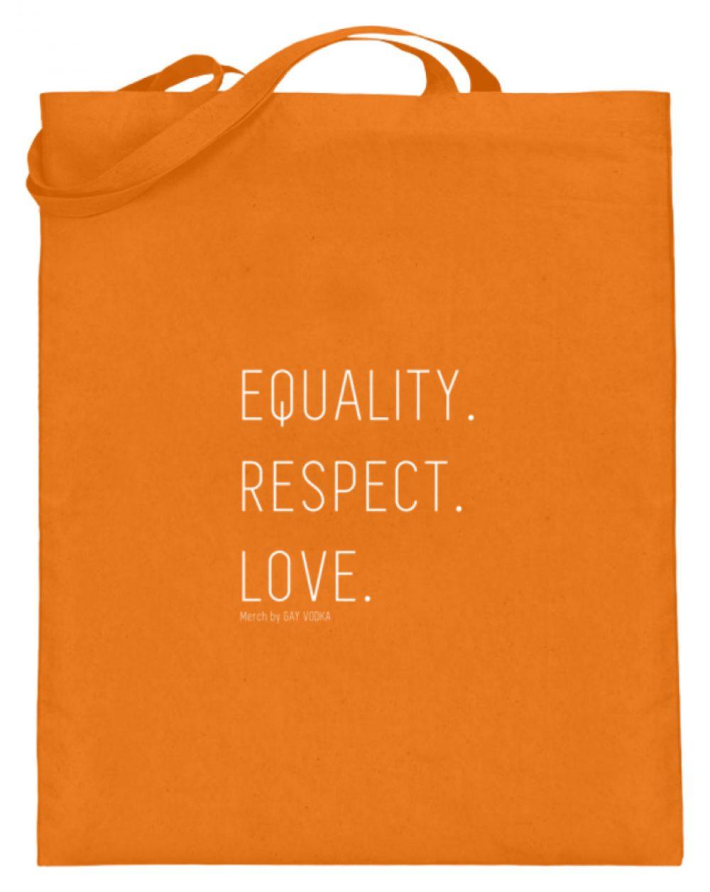 EQUALITY. RESPECT. LOVE. - Jutebeutel (mit langen Henkeln)-5757