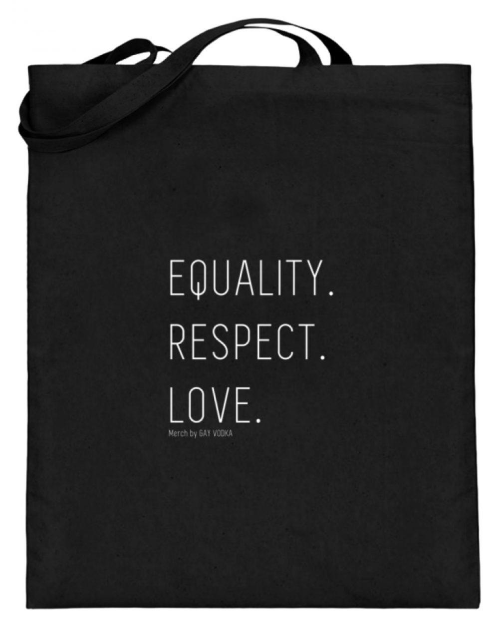 EQUALITY. RESPECT. LOVE. - Jutebeutel (mit langen Henkeln)-16