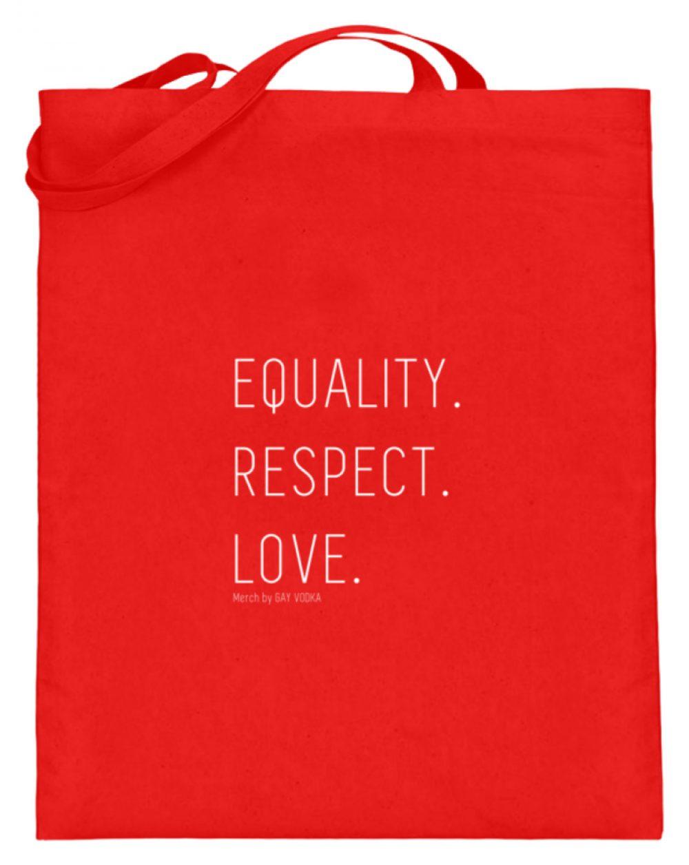 EQUALITY. RESPECT. LOVE. - Jutebeutel (mit langen Henkeln)-5761