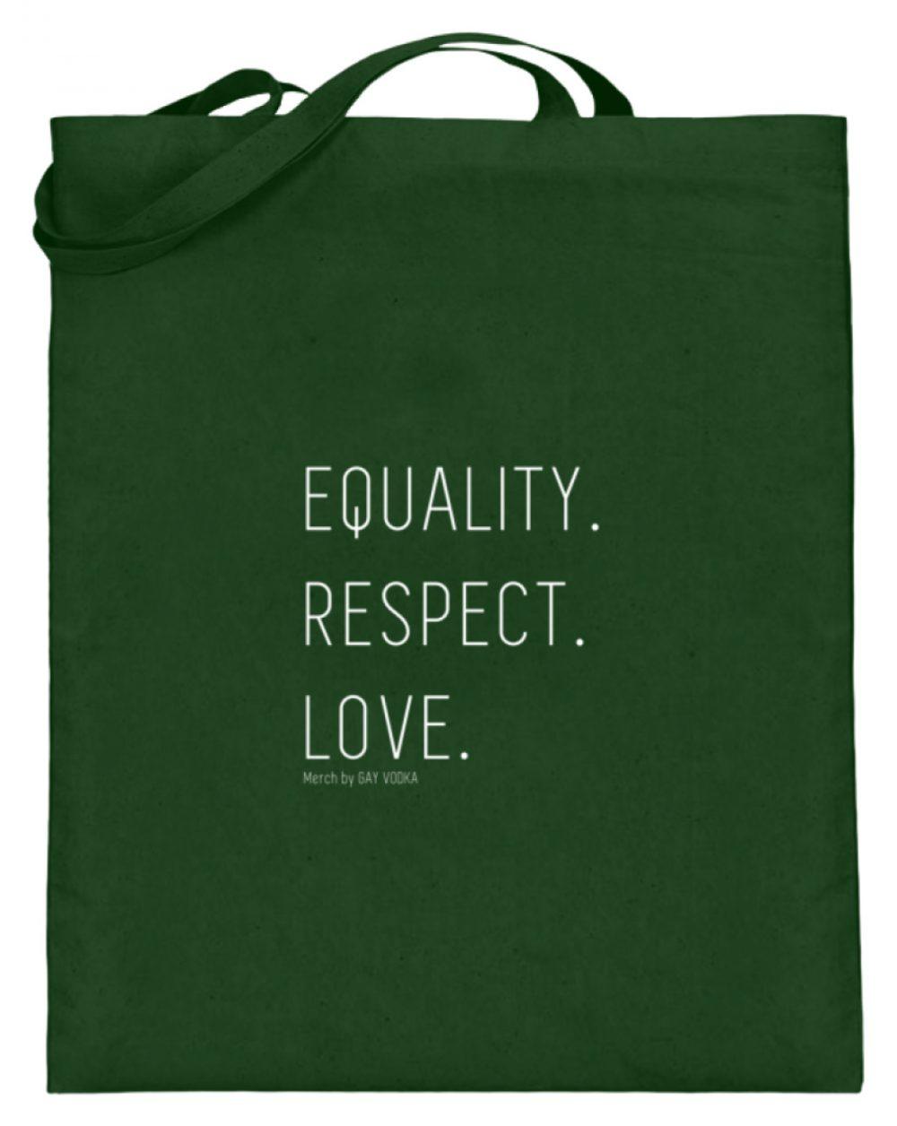 EQUALITY. RESPECT. LOVE. - Jutebeutel (mit langen Henkeln)-5741