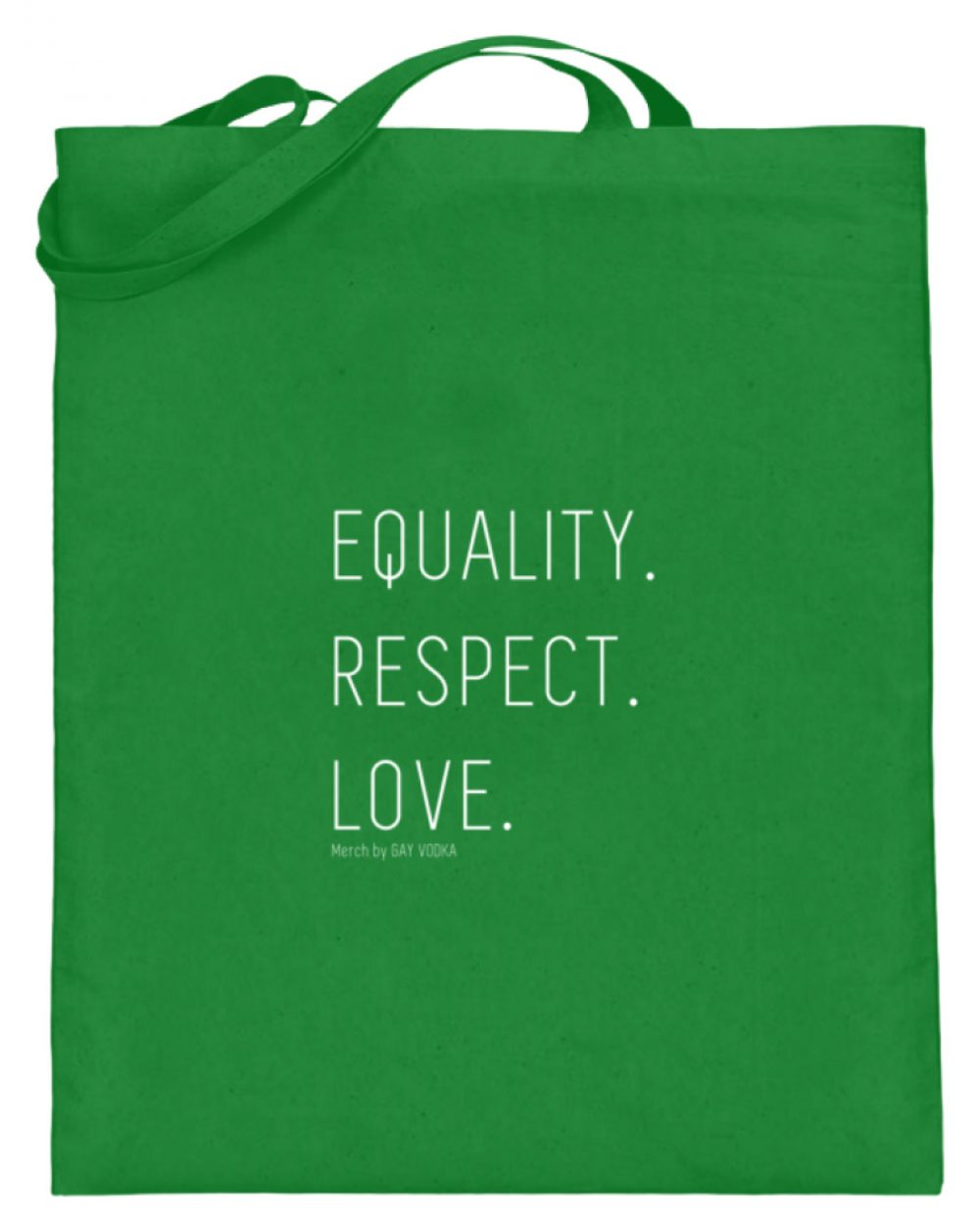 EQUALITY. RESPECT. LOVE. - Jutebeutel (mit langen Henkeln)-5747