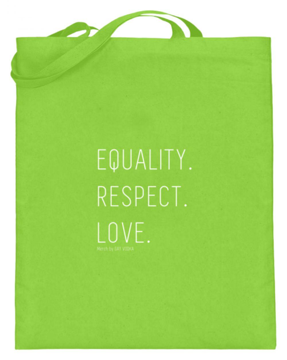 EQUALITY. RESPECT. LOVE. - Jutebeutel (mit langen Henkeln)-5753