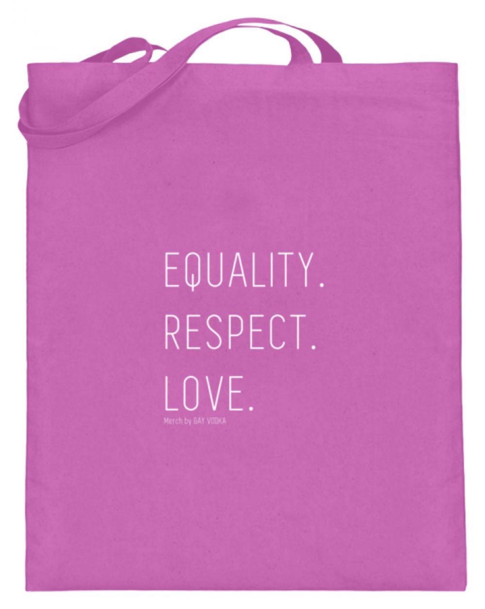 EQUALITY. RESPECT. LOVE. - Jutebeutel (mit langen Henkeln)-5759