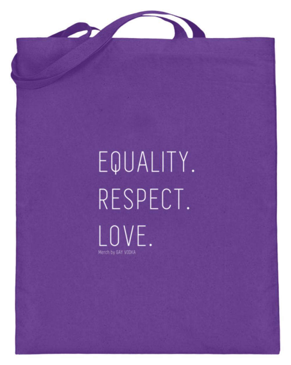 EQUALITY. RESPECT. LOVE. - Jutebeutel (mit langen Henkeln)-5763
