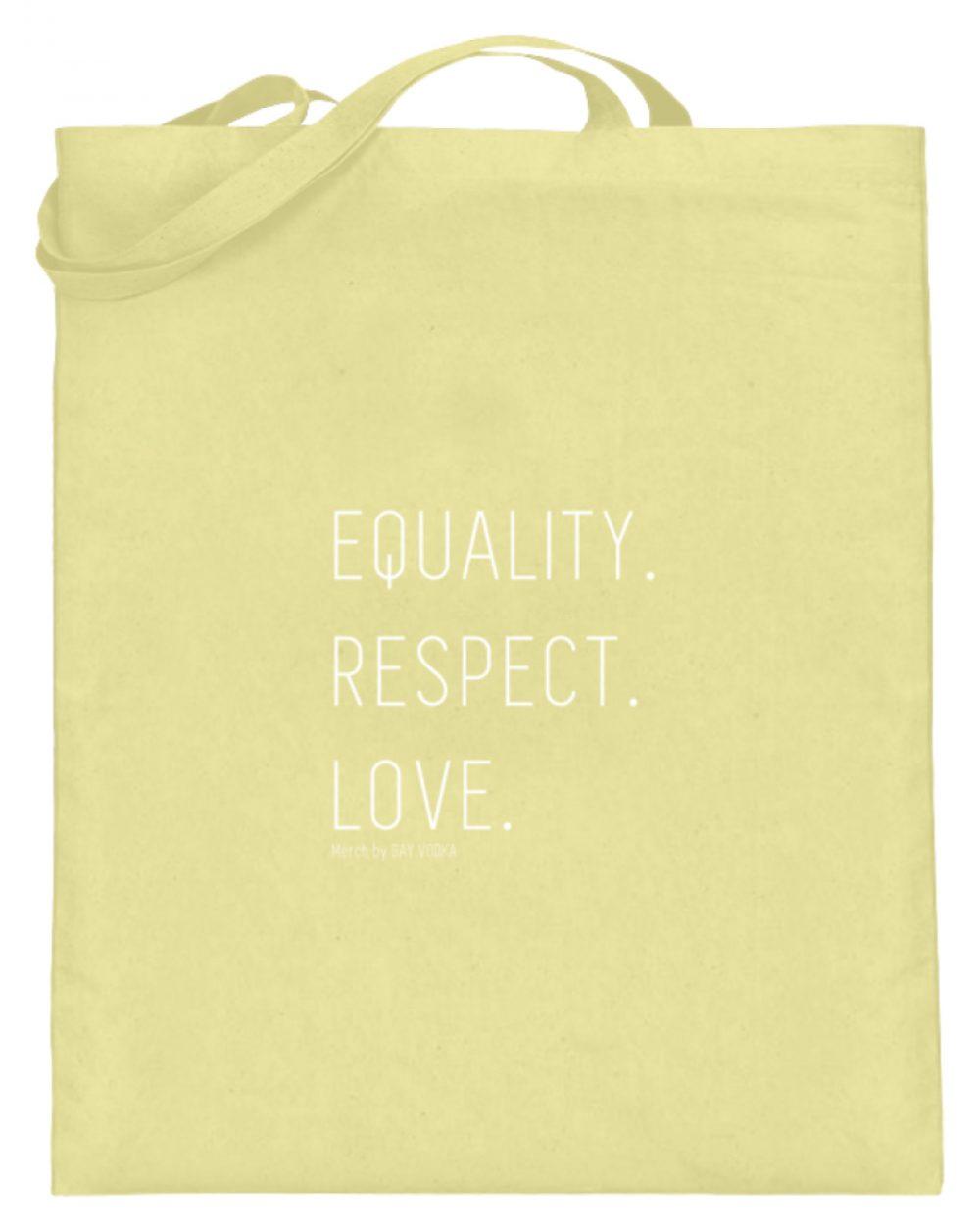 EQUALITY. RESPECT. LOVE. - Jutebeutel (mit langen Henkeln)-5751