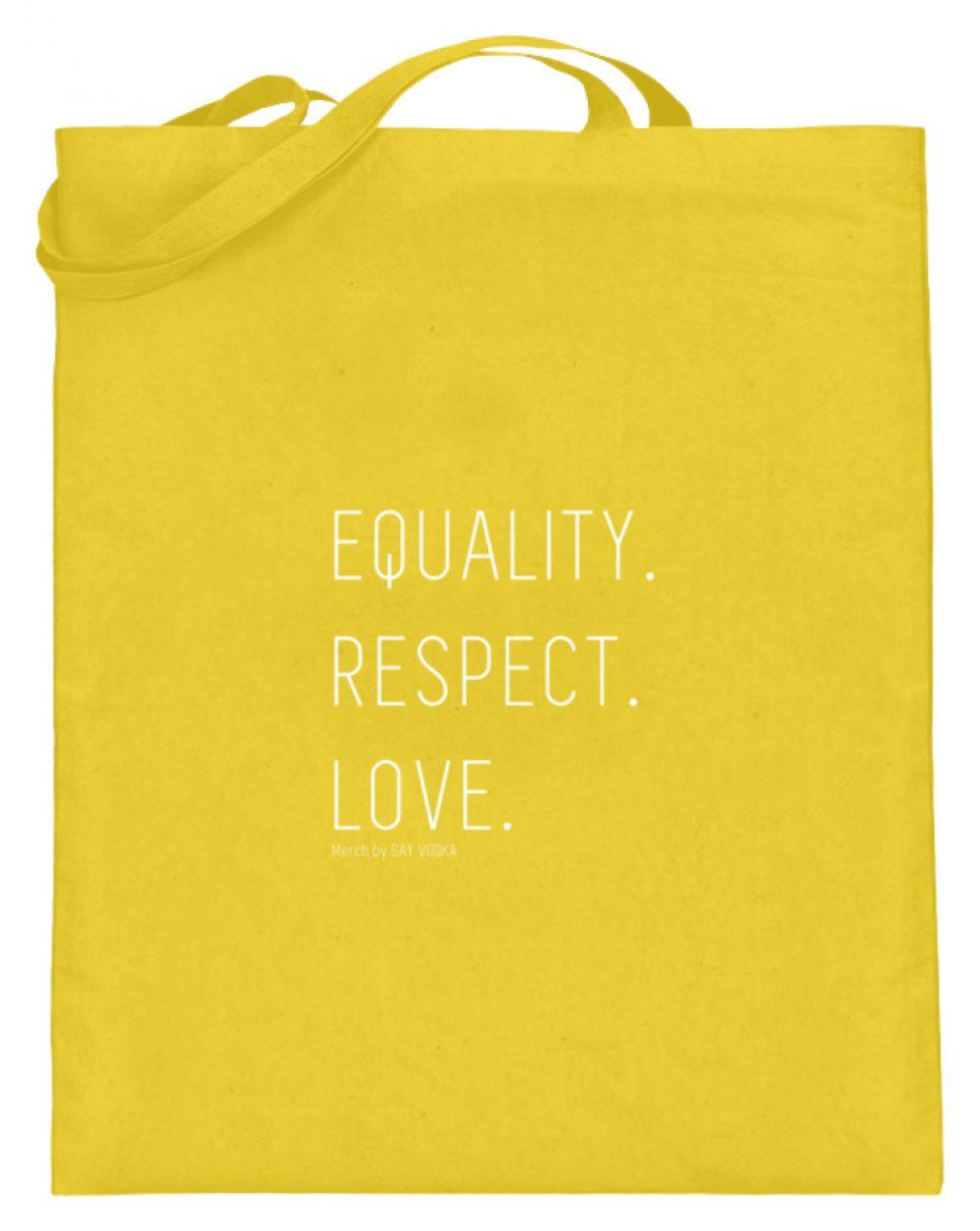 EQUALITY. RESPECT. LOVE. - Jutebeutel (mit langen Henkeln)-5766