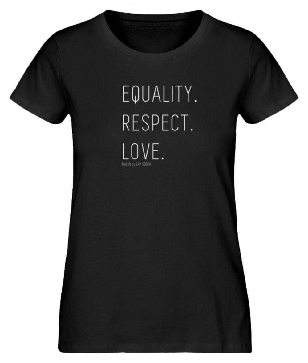 EQUALITY. RESPECT. LOVE. - Damen Premium Organic Shirt-16