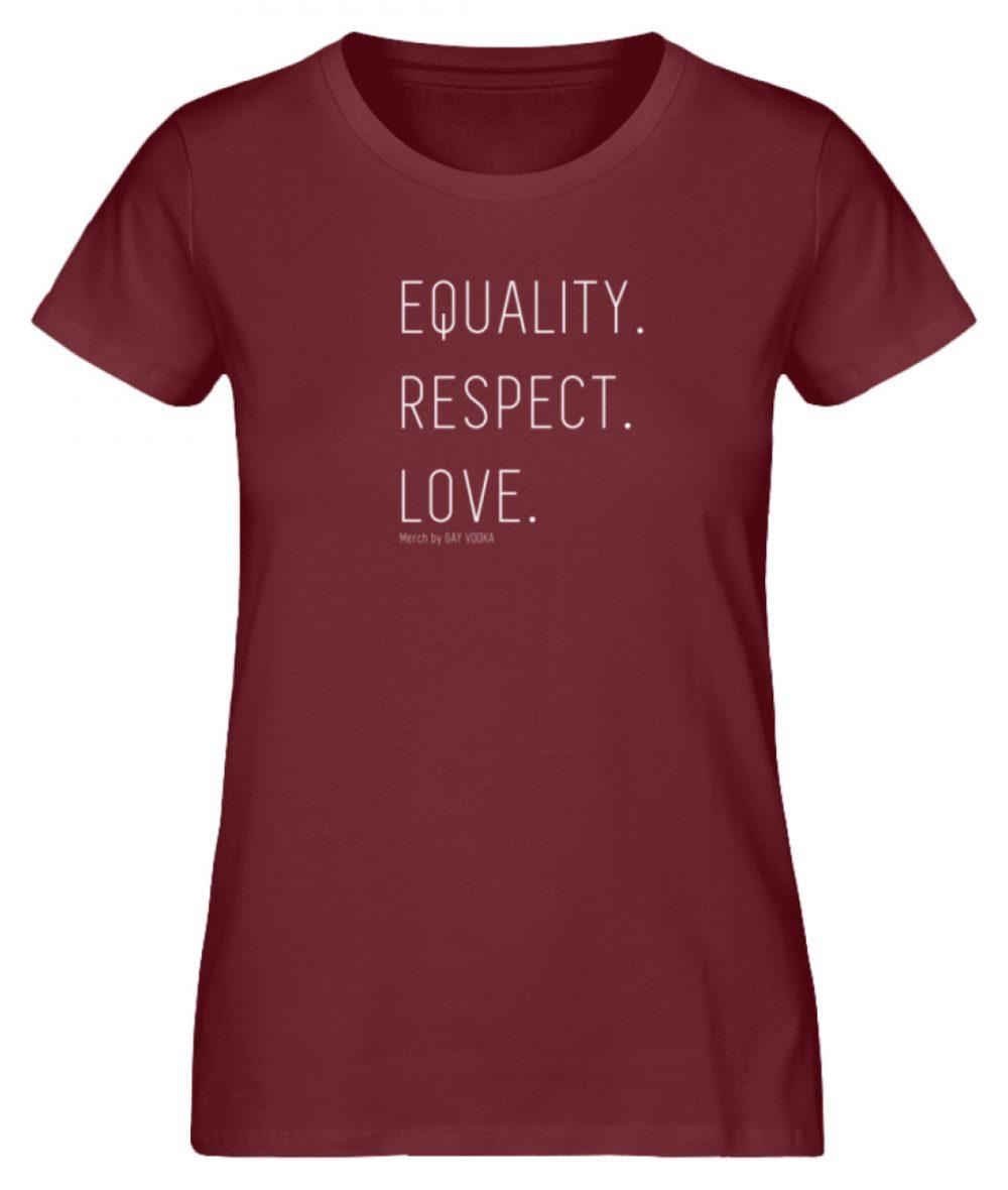 EQUALITY. RESPECT. LOVE. - Damen Premium Organic Shirt-6883