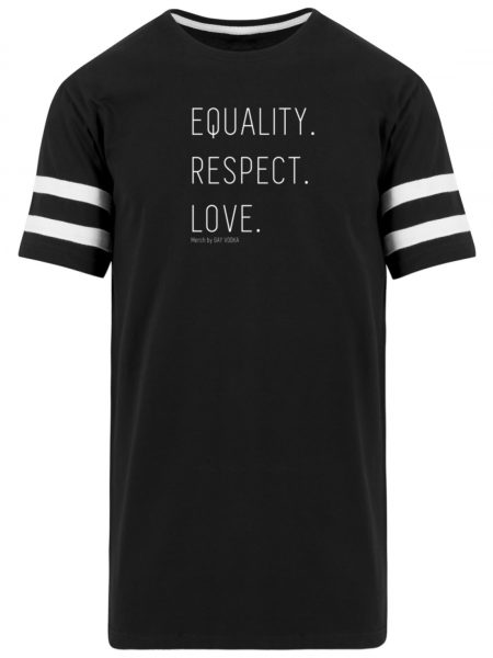 EQUALITY. RESPECT. LOVE. - Striped Long Shirt-16