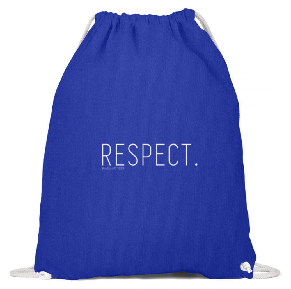 RESPECT. - Baumwoll Gymsac-6232